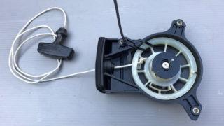 トーハツ2馬力のスターターロープ交換方法